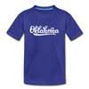 Oklahoma Youth T-Shirt - Hand Lettered Youth Oklahoma Tee - royal blue