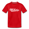 Oklahoma Youth T-Shirt - Hand Lettered Youth Oklahoma Tee - red