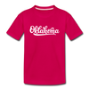 Oklahoma Youth T-Shirt - Hand Lettered Youth Oklahoma Tee - dark pink