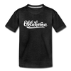 Oklahoma Youth T-Shirt - Hand Lettered Youth Oklahoma Tee - charcoal gray