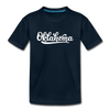 Oklahoma Youth T-Shirt - Hand Lettered Youth Oklahoma Tee - deep navy