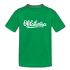 Oklahoma Youth T-Shirt - Hand Lettered Youth Oklahoma Tee - kelly green