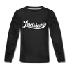 Louisiana Youth Long Sleeve Shirt - Hand Lettered Youth Long Sleeve Louisiana Tee