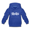Hawaii Youth Hoodie - Hand Lettered Youth Hawaii Hooded Sweatshirt - royal blue