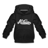 Alabama Youth Hoodie - Hand Lettered Youth Alabama Hooded Sweatshirt - black