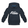 Alabama Youth Hoodie - Hand Lettered Youth Alabama Hooded Sweatshirt - navy