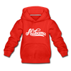 Alabama Youth Hoodie - Hand Lettered Youth Alabama Hooded Sweatshirt - red