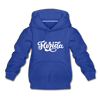 Florida Youth Hoodie - Hand Lettered Youth Florida Hooded Sweatshirt - royal blue