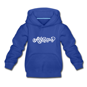 Arkansas Youth Hoodie - Hand Lettered Youth Arkansas Hooded Sweatshirt
