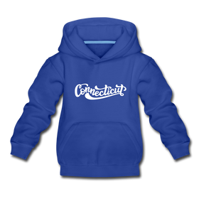 Connecticut Youth Hoodie - Hand Lettered Youth Connecticut Hooded Sweatshirt