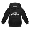 North Carolina Youth Hoodie - Hand Lettered Youth North Carolina Hooded Sweatshirt - black
