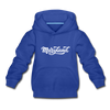 Maryland Youth Hoodie - Hand Lettered Youth Maryland Hooded Sweatshirt - royal blue