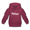 Michigan Youth Hoodie - Hand Lettered Youth Michigan Hooded Sweatshirt - burgundy