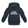 South Carolina Youth Hoodie - Hand Lettered Youth South Carolina Hooded Sweatshirt - navy