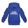 South Carolina Youth Hoodie - Hand Lettered Youth South Carolina Hooded Sweatshirt - royal blue