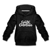 South Carolina Youth Hoodie - Hand Lettered Youth South Carolina Hooded Sweatshirt - charcoal gray