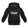Vermont Youth Hoodie - Hand Lettered Youth Vermont Hooded Sweatshirt - black