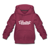 Vermont Youth Hoodie - Hand Lettered Youth Vermont Hooded Sweatshirt - burgundy