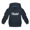 Vermont Youth Hoodie - Hand Lettered Youth Vermont Hooded Sweatshirt - navy