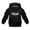 Vermont Youth Hoodie - Hand Lettered Youth Vermont Hooded Sweatshirt - charcoal gray
