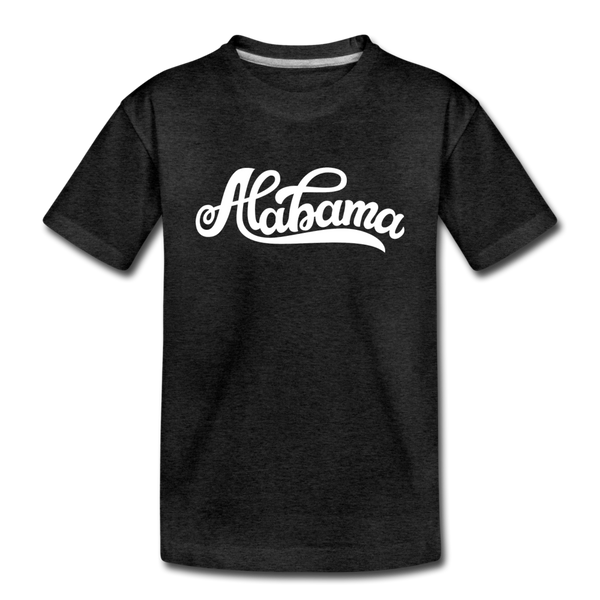 Alabama Toddler T-Shirt - Hand Lettered Alabama Toddler Tee - charcoal gray