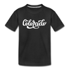 Colorado Toddler T-Shirt - Hand Lettered Colorado Toddler Tee - black