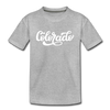 Colorado Toddler T-Shirt - Hand Lettered Colorado Toddler Tee - heather gray