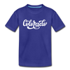 Colorado Toddler T-Shirt - Hand Lettered Colorado Toddler Tee - royal blue