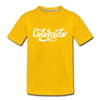 Colorado Toddler T-Shirt - Hand Lettered Colorado Toddler Tee - sun yellow