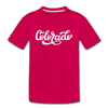 Colorado Toddler T-Shirt - Hand Lettered Colorado Toddler Tee - dark pink