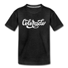 Colorado Toddler T-Shirt - Hand Lettered Colorado Toddler Tee - charcoal gray