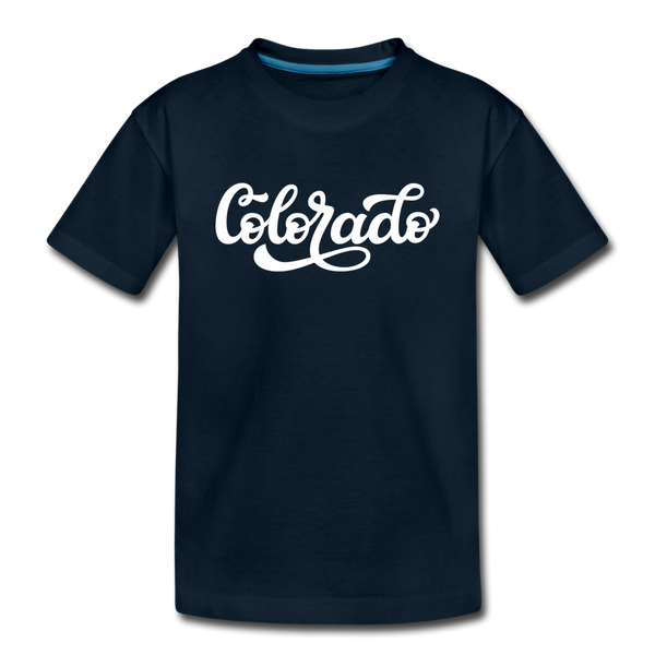 Colorado Toddler T-Shirt - Hand Lettered Colorado Toddler Tee - deep navy