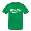 Colorado Toddler T-Shirt - Hand Lettered Colorado Toddler Tee - kelly green