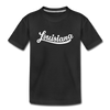Louisiana Toddler T-Shirt - Hand Lettered Louisiana Toddler Tee - black