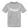 Louisiana Toddler T-Shirt - Hand Lettered Louisiana Toddler Tee - heather gray