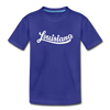 Louisiana Toddler T-Shirt - Hand Lettered Louisiana Toddler Tee - royal blue