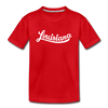 Louisiana Toddler T-Shirt - Hand Lettered Louisiana Toddler Tee - red