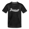 Louisiana Toddler T-Shirt - Hand Lettered Louisiana Toddler Tee - charcoal gray