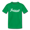 Louisiana Toddler T-Shirt - Hand Lettered Louisiana Toddler Tee - kelly green