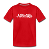 Nebraska Toddler T-Shirt - Hand Lettered Nebraska Toddler Tee - red