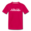 Nebraska Toddler T-Shirt - Hand Lettered Nebraska Toddler Tee - dark pink