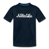 Nebraska Toddler T-Shirt - Hand Lettered Nebraska Toddler Tee - deep navy