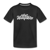 New Hampshire Toddler T-Shirt - Hand Lettered New Hampshire Toddler Tee - black
