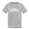 New Hampshire Toddler T-Shirt - Hand Lettered New Hampshire Toddler Tee - heather gray