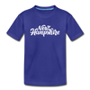 New Hampshire Toddler T-Shirt - Hand Lettered New Hampshire Toddler Tee - royal blue