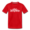 New Hampshire Toddler T-Shirt - Hand Lettered New Hampshire Toddler Tee - red