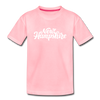 New Hampshire Toddler T-Shirt - Hand Lettered New Hampshire Toddler Tee - pink
