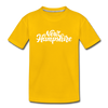New Hampshire Toddler T-Shirt - Hand Lettered New Hampshire Toddler Tee - sun yellow