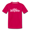New Hampshire Toddler T-Shirt - Hand Lettered New Hampshire Toddler Tee - dark pink
