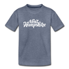 New Hampshire Toddler T-Shirt - Hand Lettered New Hampshire Toddler Tee - heather blue